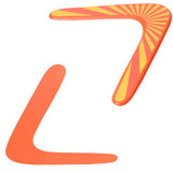 Returning Boomerang - Kids Vibrant Orange and Gold Wooden V Shaped