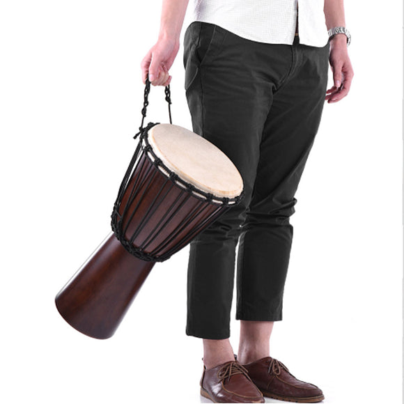 djembe drum from mahogany