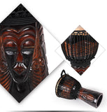 african carved djembe