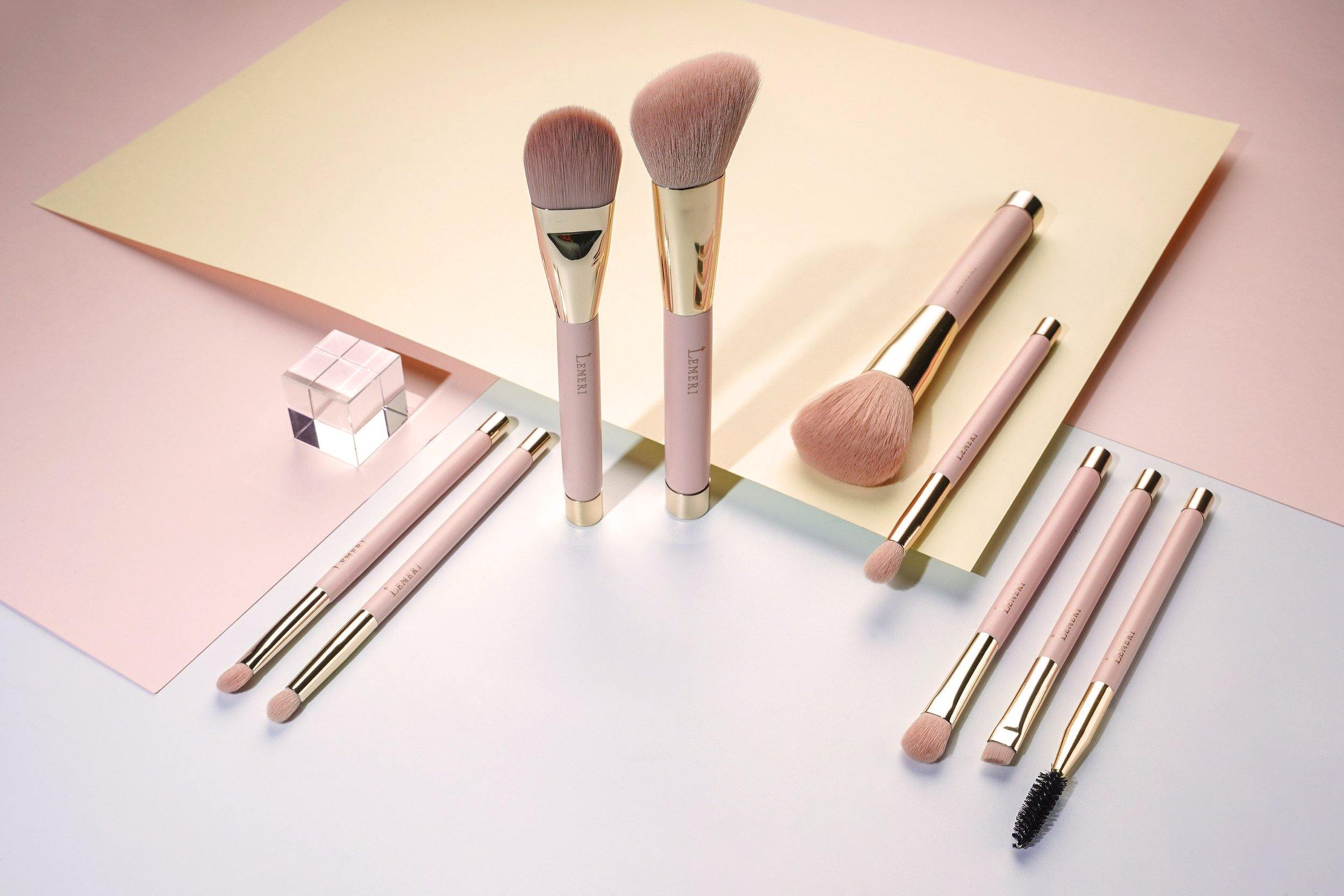 Rose Collection Brush Set 9pcs - Lemeri Beauty