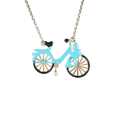 Biking on Sundays Necklace