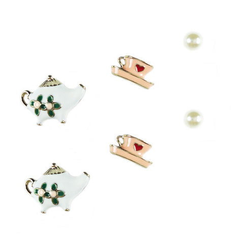 Afternoon Tea Stud Earring Set