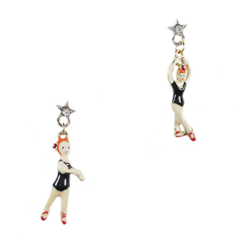 Synchronized Swimmer Stud Earrings