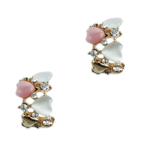 Curvy Heart Stud Earings