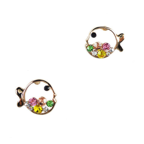 Bubble Fish Stud Earrings