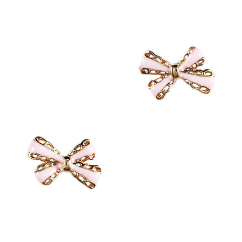 Simple Bow Stud Earrings