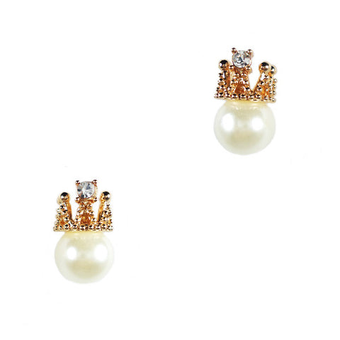 Pearl Queen Stud Earrings