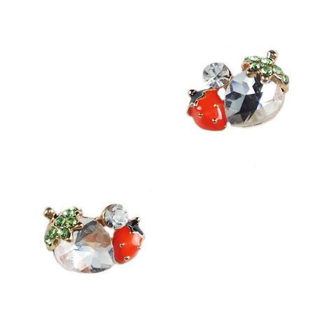 Crystal Strawberry Stud Earrings