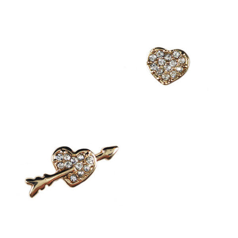 Cupid Heart Stud Earrings