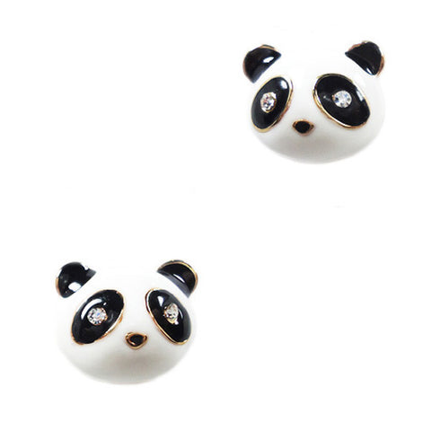 Panda Face Stud Earrings
