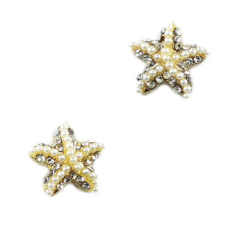 Pearl Starfish Stud Earrings