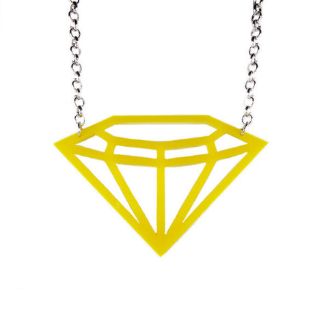 Diamond Laser Cut Necklace