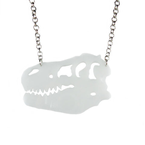 Dinosaur Skull Laser Cut Necklace