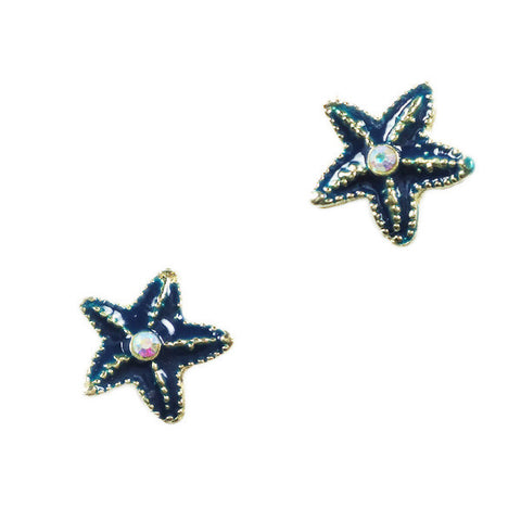 Sapphire Starfish Stud Earrings