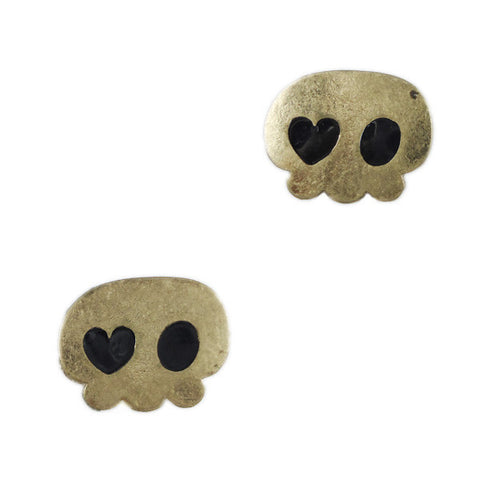 Heart-Eye Ghost Stud Earrings