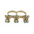 Three Monkeys Two-Finger Ring