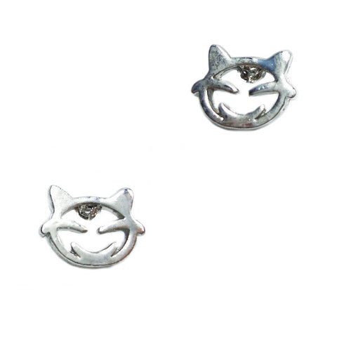 Smily Cat Face Stud Earrings