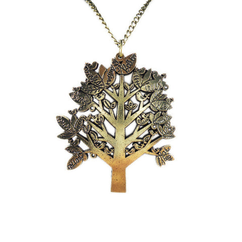 Little Birds on Big Tree Necklace