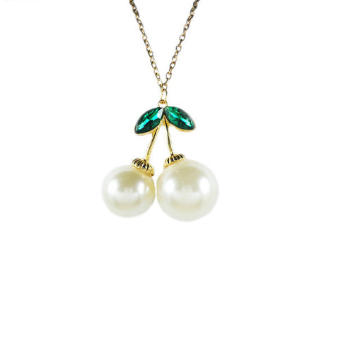 Pearl Cherry Necklace