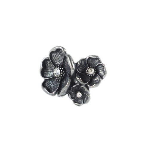 Triple Flowers Ring