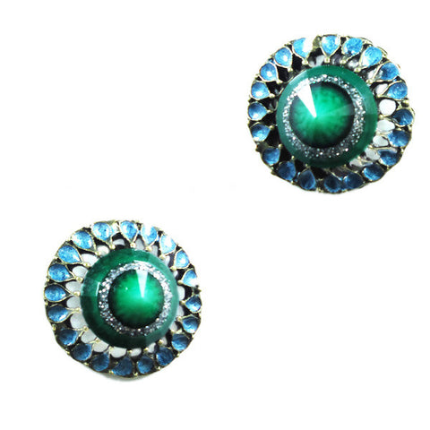 Vintage Peacock Stud Earrings