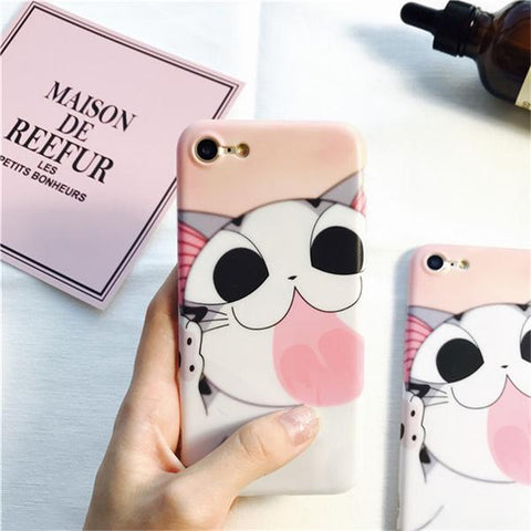 Kitty's Wet Kisses (Pink) Phone Case
