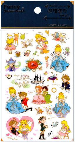 Funny Sticker World: Cinderella's Story