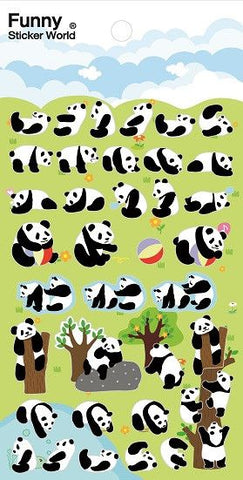 Funny Sticker World: Panda Fun Time