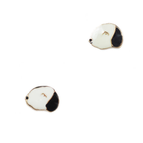 Sleepy Dog Stud Earrings