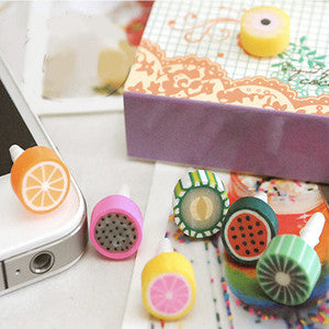 Yummy Earphone Jack Accessories: Tropical Fruit Series