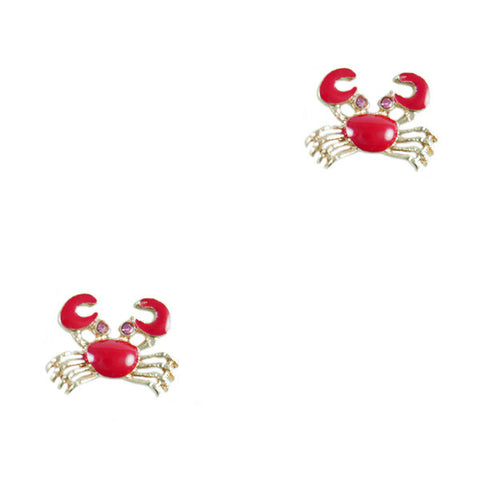 Christmas Island Red Crab Stud Earrings
