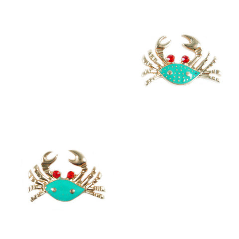 Blue Crab Stud Earrings