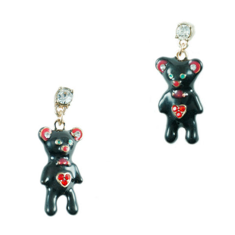 Hearty Teddy Bear Stud Earrings