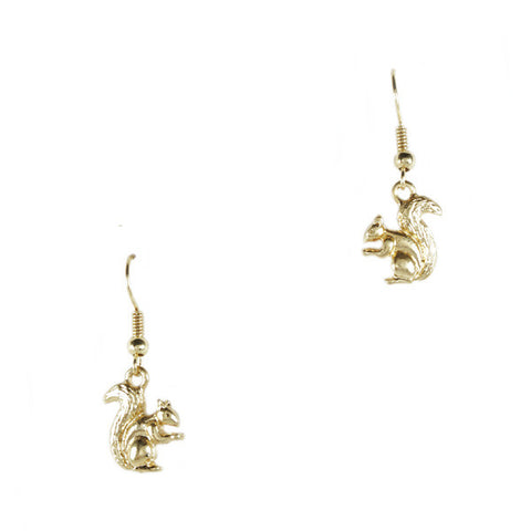 Golden Squirrel Earrings