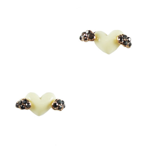 Heart with Wings Stud Earrings