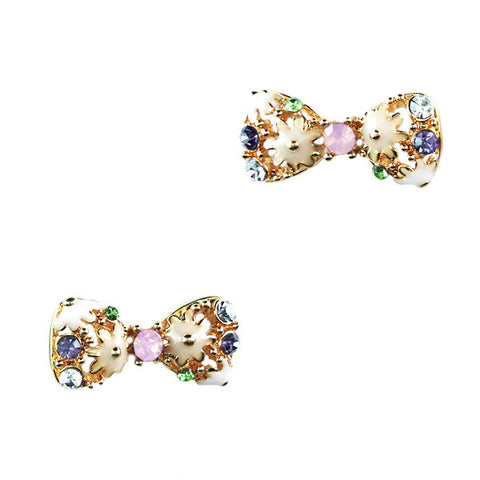 Baroque Bow Tie Stud Earrings