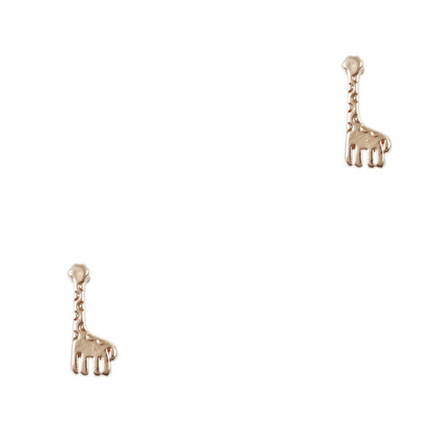 Mini Golden Giraffe Stud Earrings