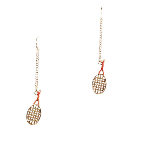 Tennis Racket Earrings