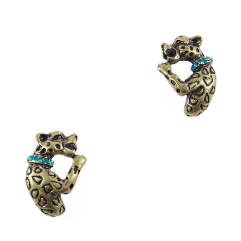 Vintage Leopard Stud Earrings