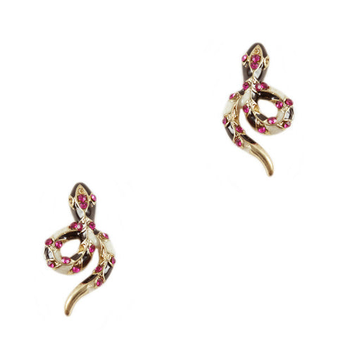 Lux Snake Stud Earrings