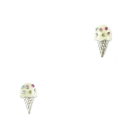 Ice Cream Cone Stud Earrings