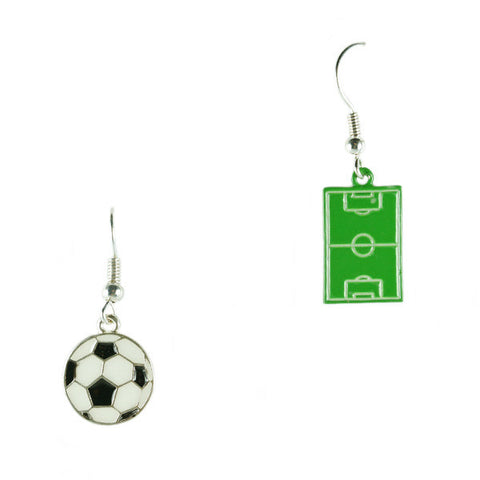 Soccer Ball and Field Earrings