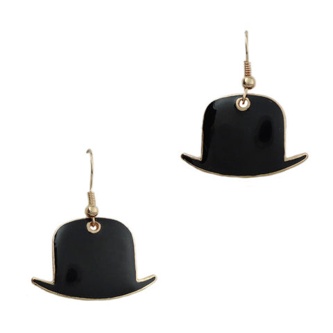 Black Magician's Hat Earrings