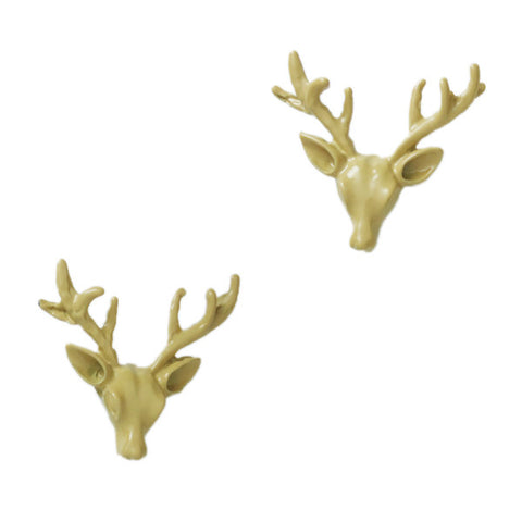Antler Head Stud Earrings