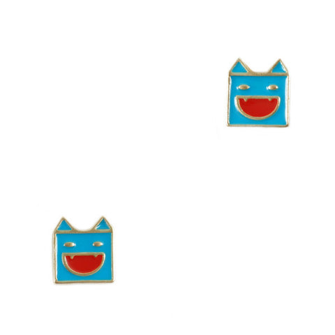 Vampiric Superman Stud Earrings