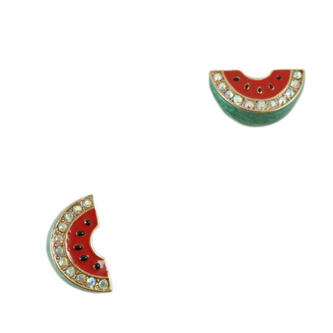 Watermelon 3D Stud Earrings