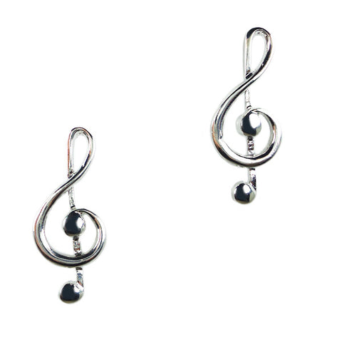 G Clef Stud Earrings