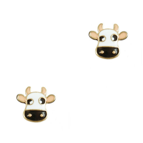 Milk Cow Stud Earrings