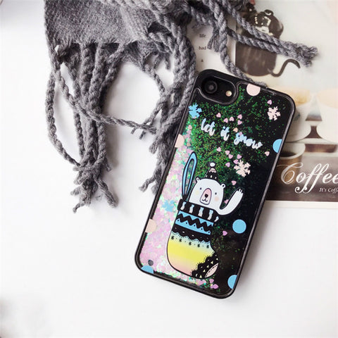 Glitter Waterfall Phone Case - Black - Sock Bear