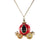 Red Pumpkin Carriage Necklace